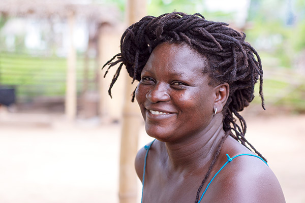 Meet Patience, one of the Wote Women producing palm oil in Liati Wote, the Volta Region, Ghana